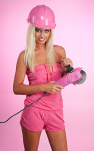 Woman With Pinky Working Tool